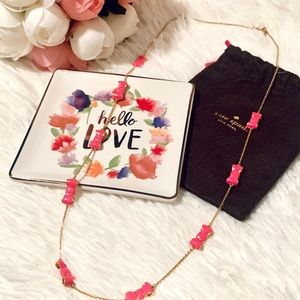 Kate Spade hot pink Take a Bow necklace